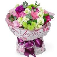 핑크장미혼합꽃다발